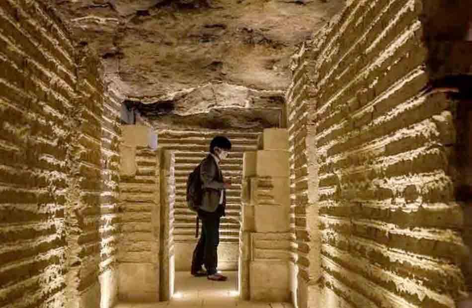 افتتاح  مشروع ترميم المقبرة الجنوبية للملك زوسر يتصدر اهتمامات الصحف والوكالات العالمية  صور