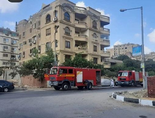 حريق بمنزل الفنان شريف منير  صور