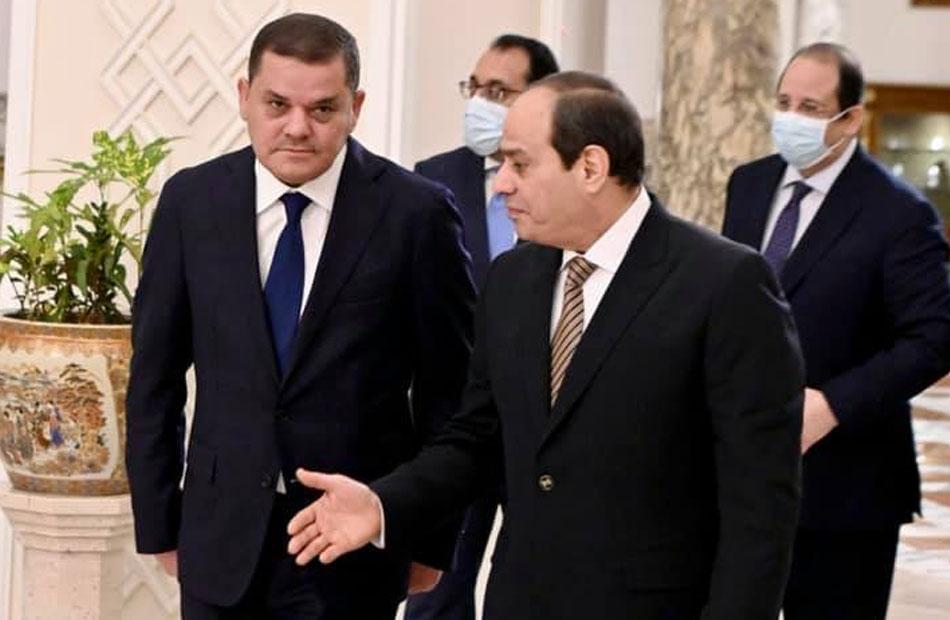 الرئيس السيسي يشيد بمساعي حكومة الدبيبة لتحسين الأوضاع المعيشية للمواطن الليبي