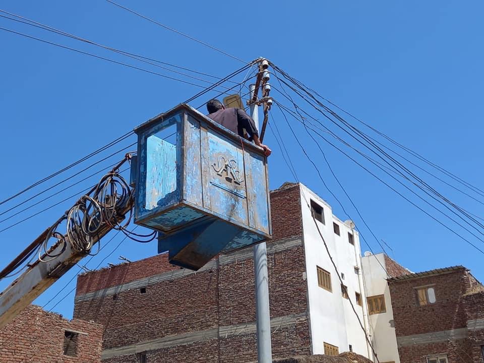 محافظ كفر الشيخ خطة لإحلال وتجديد شبكات الجهد المنخفض بالمحافظة بتكلفة  ملايين جنيه   صور