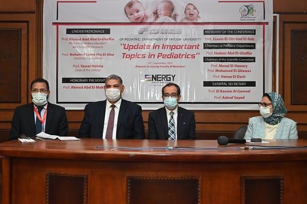 جامعة الفيوم قسم الأطفال ينظم المؤتمر الثامن ;الجديد في طب الأطفال; | صور