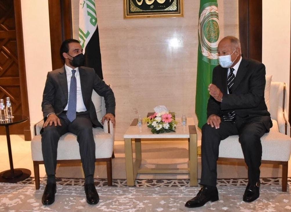 أبو الغيط لرئيس البرلمان العراقي سعداء لما حققته بغداد من تقدم وتوطيد علاقته بمحيطه العربي