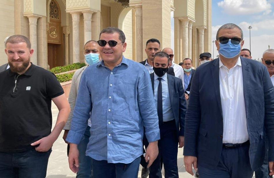 رئيس حكومة الوحدة الليبية الرئيس السيسي راعي النهضة في مصر | صور