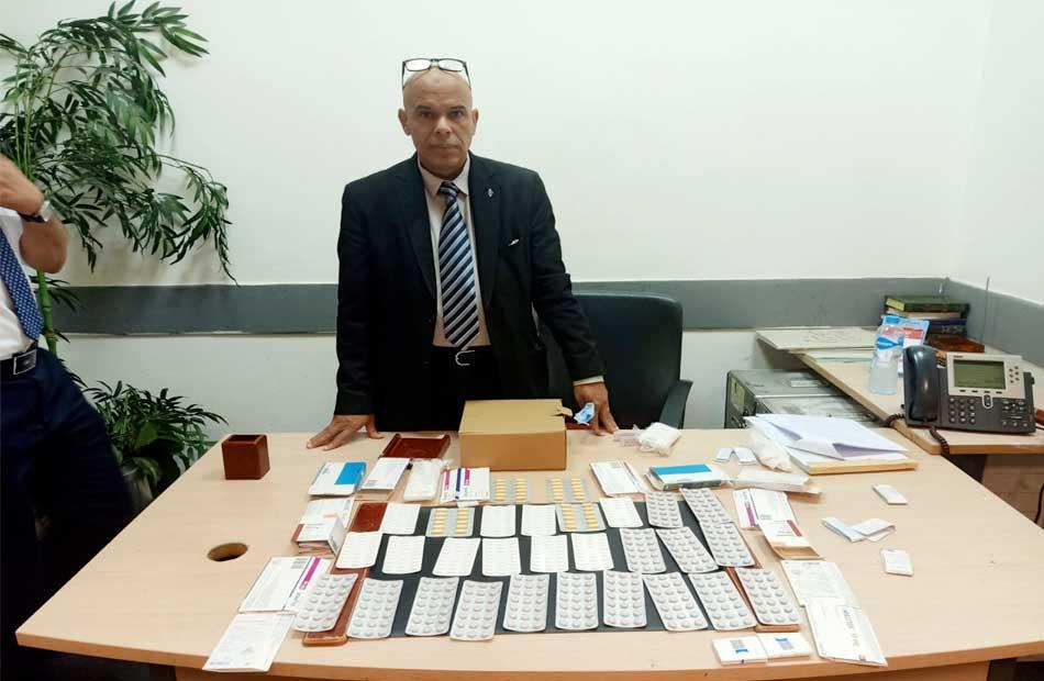 جمارك مطار القاهرة تضبط كمية من الأدوية البشرية ومخدر الماريجوانا