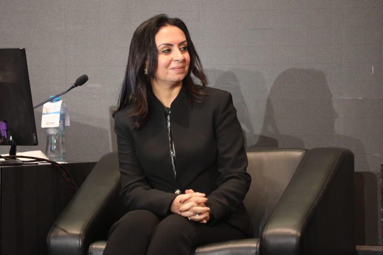الدكتور مايا مرسى خلال المؤتمر