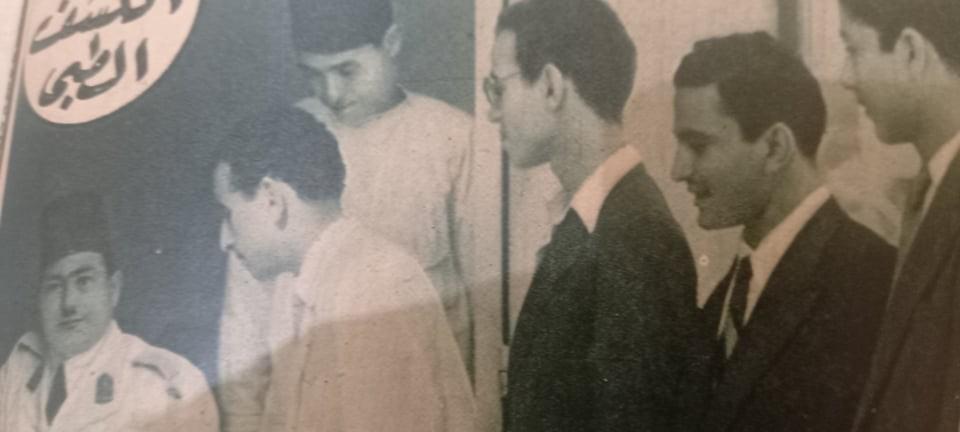 الكشف الطبى بالجامعة عام 1949