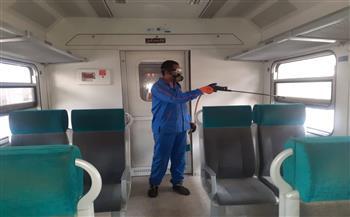 السكة-الحديد-تواصل-تطهير-وتعقيم-المحطات-والقطارات-لمنع-انتشار-كورونا