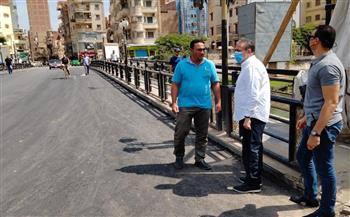 محافظ-المنوفية-يتفقد-أعمال-التطوير-بكوبري-;مبارك;-و;عمر-أفندي;-|-صور