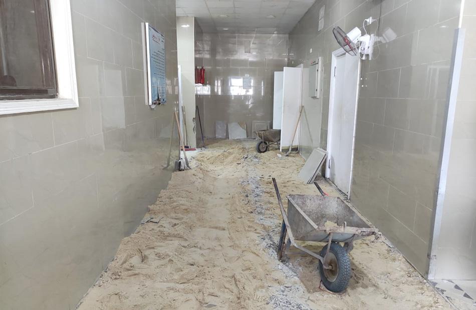 انتهاء أعمال تطوير البنية التحتية لطوارئ الجراحة والعظام بمستشفى السويس|صور
