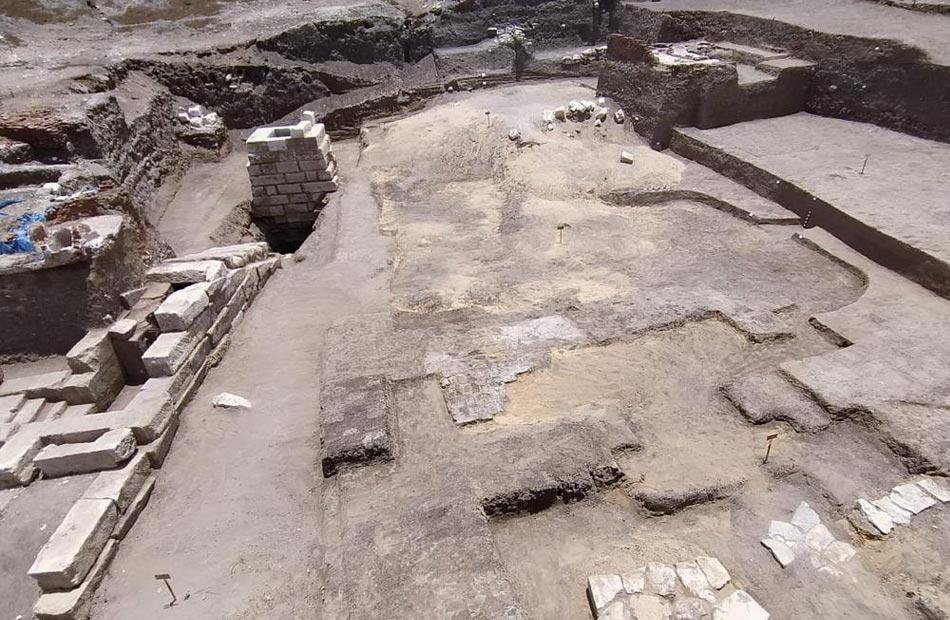 غنيم كشف كفر الشيخ الأثري يمثل مبنى ضخما من الحجر الجيري |صور