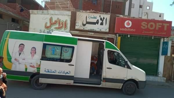 الفرق المتنقلة تواصل تطعيم المواطنين بلقاح كورونا في شوارع الغردقة   صور