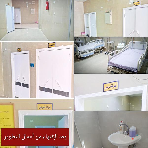 أعمال تطوير البنية التحتية لطوارئ الجراحة والعظام بمستشفى السويس