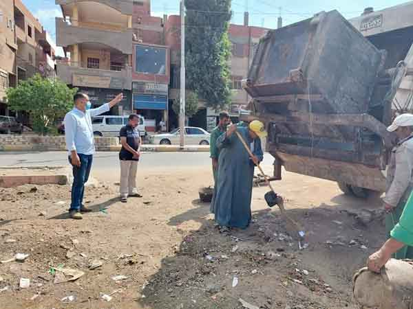 حملة نظافة صباحية بمدينة الباجور بالمنوفية