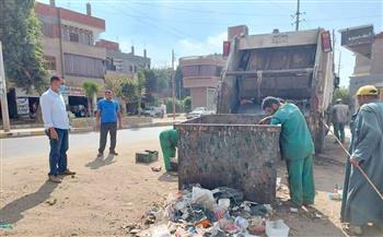 رفع--طن-قمامة-في-حملة-نظافة-صباحية-بمدينة-الباجور-بالمنوفية-|صور