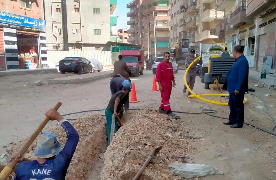 تسوية شارع الجلاء وتوصيل الغاز الطبيعي بشارع الصباحي بمدينة قويسنا بالمنوفية |صور