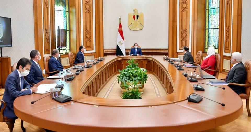 الموقع الرئاسي ينشر فيديو للرئيس السيسي خلال اجتماعه لمتابعة منظومة دعم وحماية الفنانين
