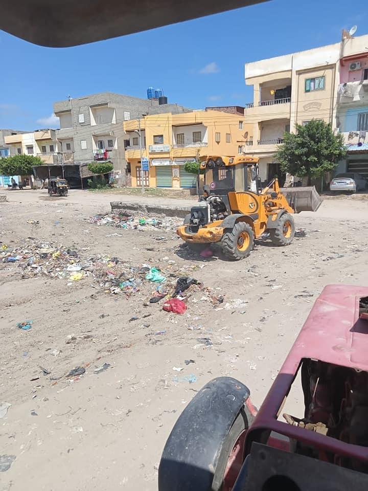 حملات نظافة بمدينة بلطيم بكفرالشيخ