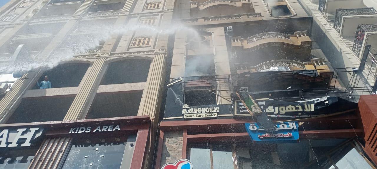 حريق في عقار سكني بمركز دمنهور