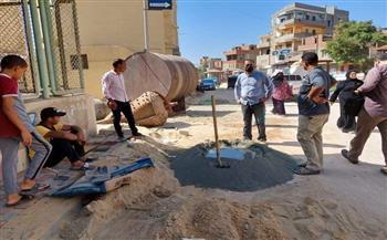بدء-تركيب-بلاط-الإنترلوك-بشارع-مصر-بالباجور-بالمنوفية-ورفع-كافة-الإشغالات-المجاورة-|-صور