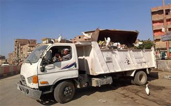 -رفع--طن-قمامة-من-القرى-التابعة-لمركز-شبين-الكوم-بالمنوفية-|-صور
