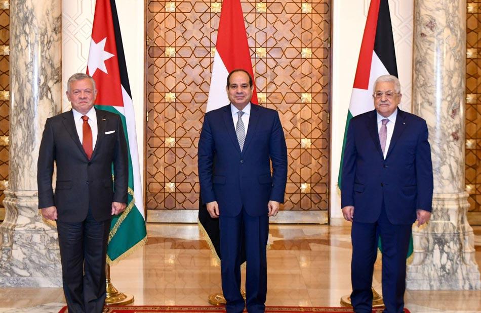 بسام راضي القمة الثلاثية وضعت خارطة للتعامل مع القضية الفلسطينية