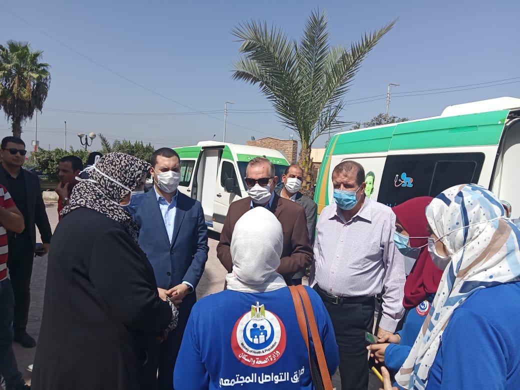 محافظ كفر الشيخ يتفقد حملة ;معًا نطمئن  سجل الآن; | فيديو وصور