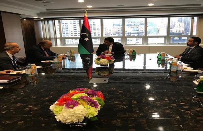 سامح شكري يجدد دعم مصر الكامل لكل ما يحقق مصلحة الشعب الليبي ويساعد في تثبيت الاستقرار صور
