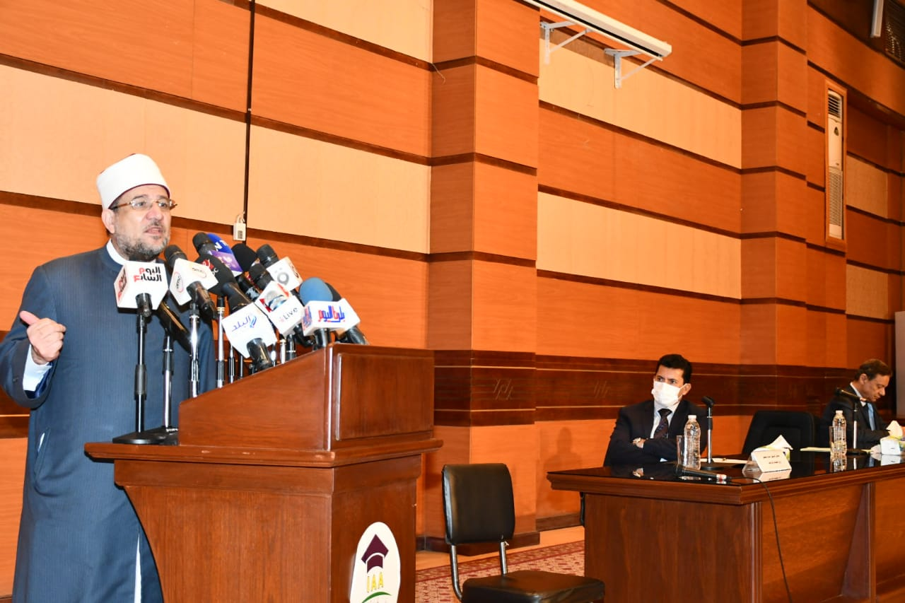 فعاليات إطلاق حملة  بناء الوعي  بالتعاون بين وزارتي الأوقاف والشباب والرياضة والمجلس الأعلى للإعلام