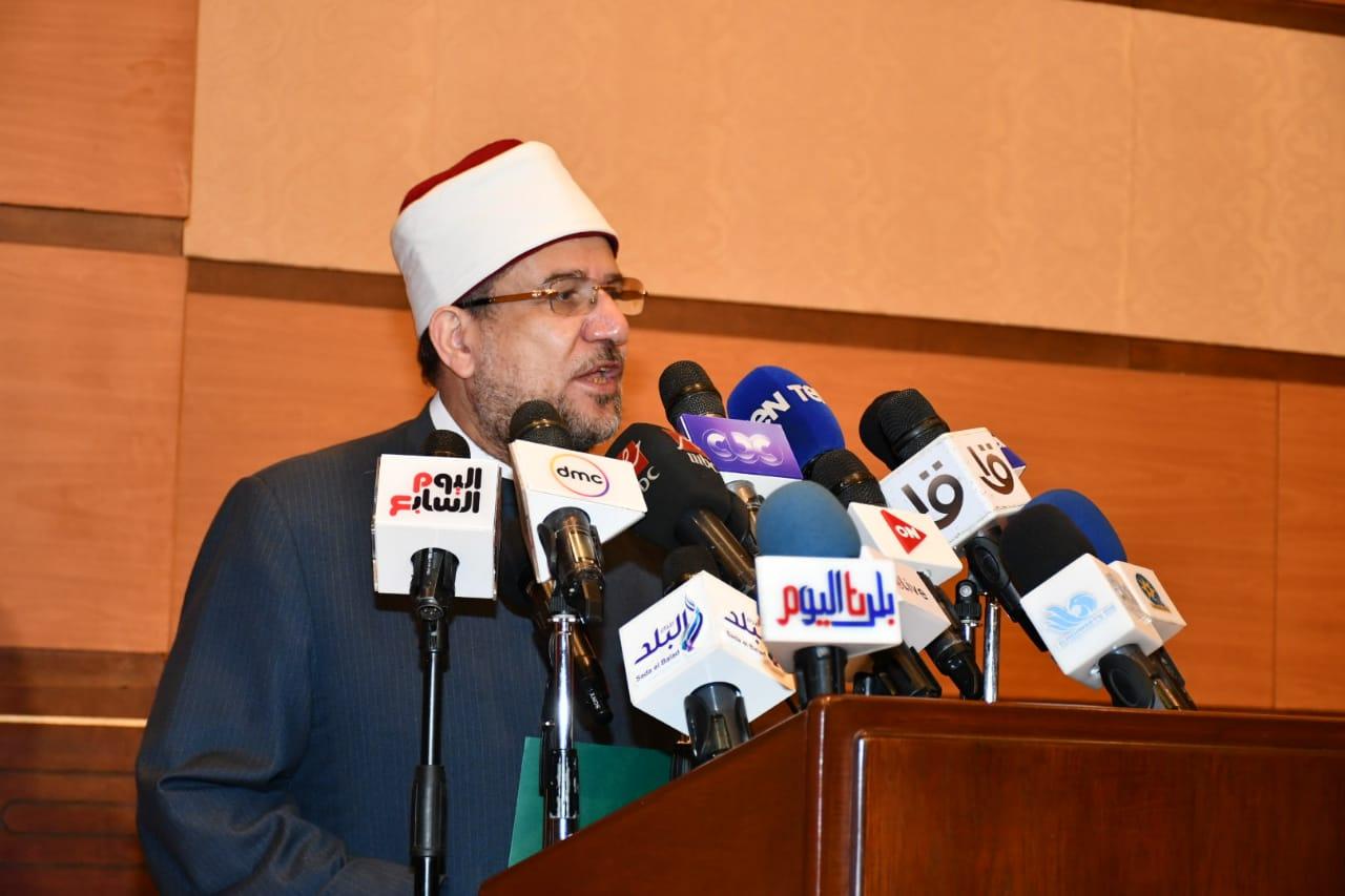 فعاليات إطلاق حملة بناء الوعي بمشاركة وزارتي الأوقاف والشباب والرياضة والأعلى للإعلام.