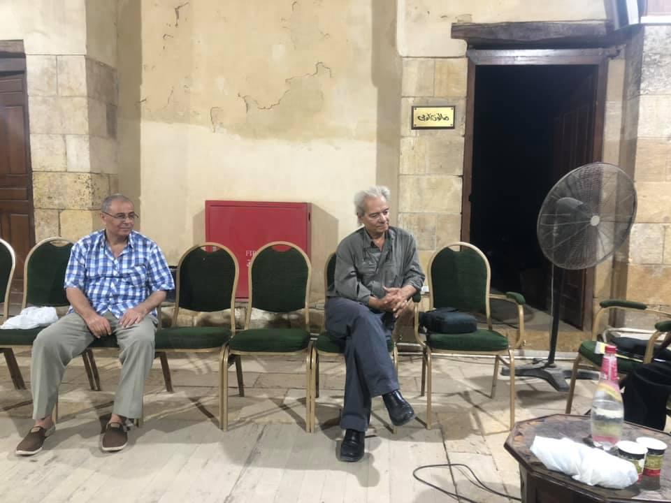 الشاعران السماح عبد الله ومحمد الدرديري