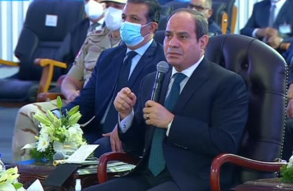 الرئيس السيسي يشهد افتتاح طريق  الإسماعيلية  العوجة  ونفق الشهيد أحمد حمدي وكوبري جنيفة