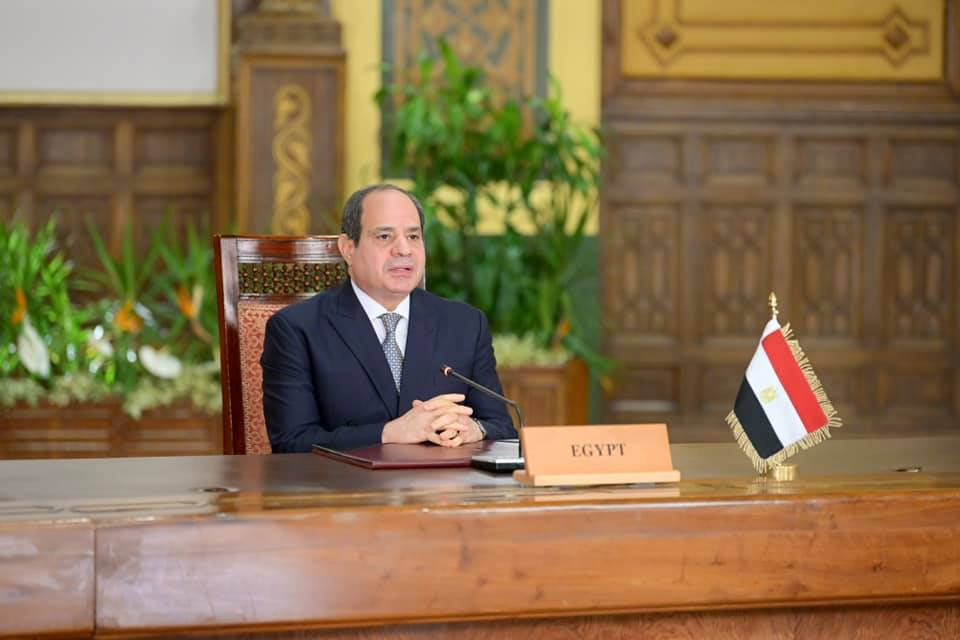الرئيس السيسي نهر النيل هو شريان الوجود الوحيد لمصر ونتمسك باتفاق ملزم لملء وتشغيل سد النهضة