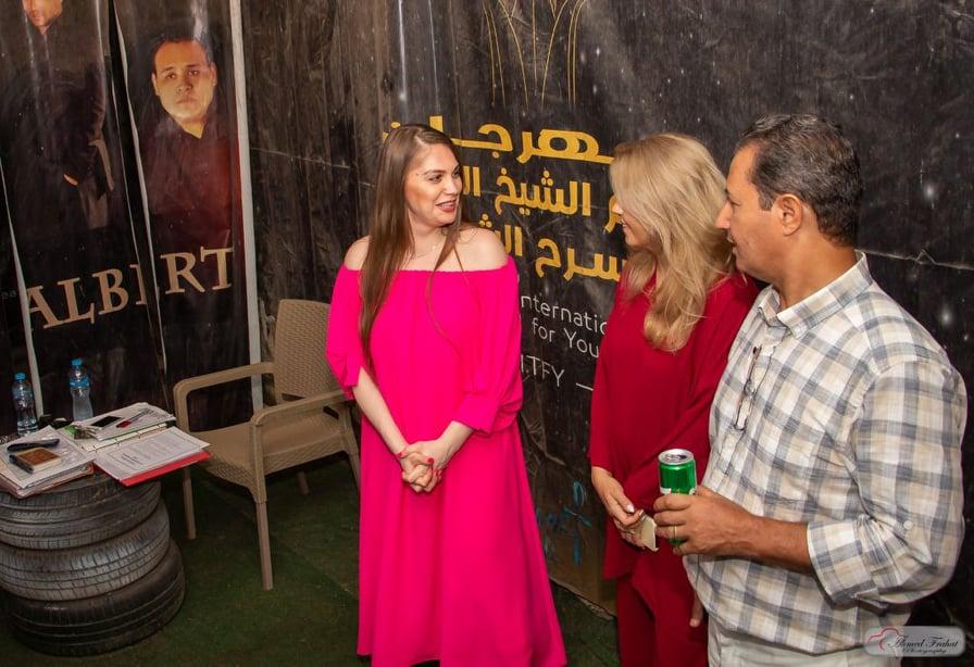 وفد المسرح الروسي يزور مقر مهرجان شرم الشيخ الدولي للمسرح الشبابي