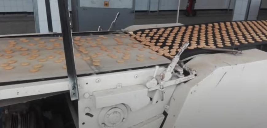 ضبط مصنع لإعادة تدوير البسكويت الكسر غير صالح للبيع