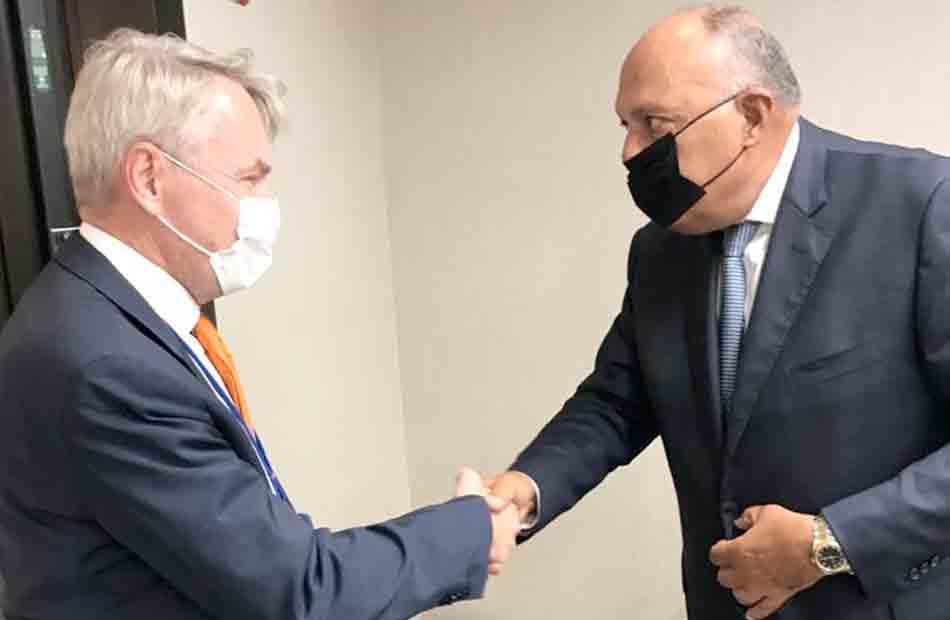 وزير الخارجية يلتقي نظيره الفنلندي على هامش لقاءاته بنيويورك صور