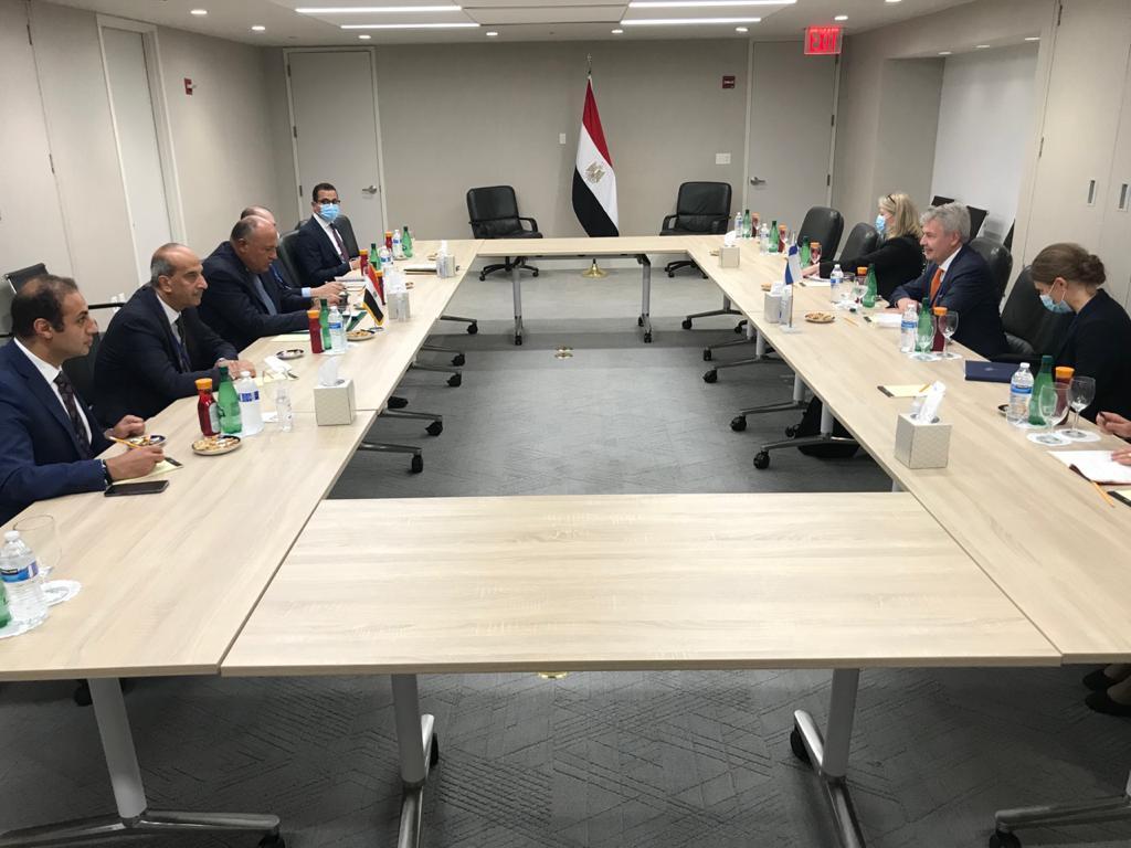 وزير الخارجية يلتقى نظيره الفنلندى علي هامش لقاءاته بنيويورك