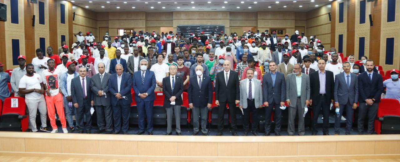 الجامعة المصرية اليابانية تنظم الملتقى الدولي للطلاب الأفارقة  صور