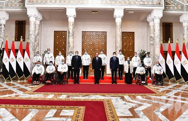 المتحدث الرئاسي ينشر صور تكريم الرئيس السيسي لأبطال دورة الألعاب البارالمبية