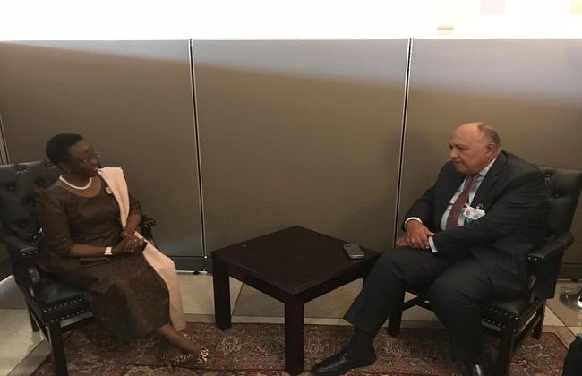وزير الخارجية يبحث أطر التعاون مع نظيرته التنزانية
