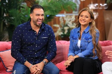 نيلي كريم مع زوجها هشام عاشور في برنامج معكم