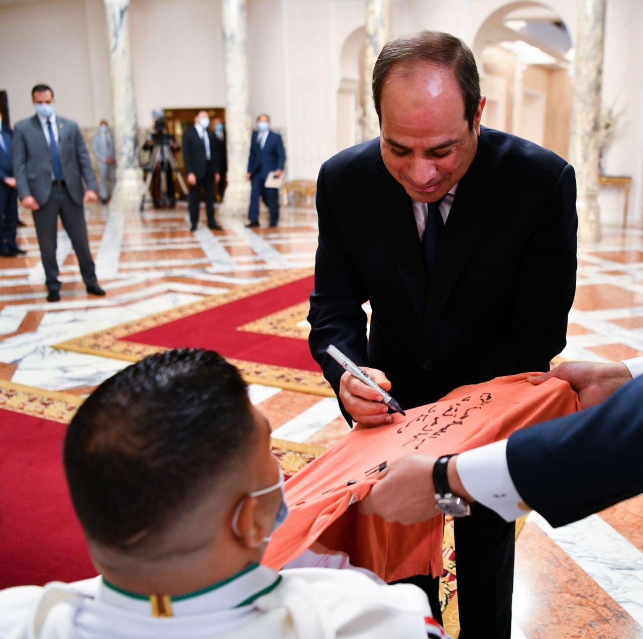 الرئيس السيسي خلال تكريم هاني عبدالهادي