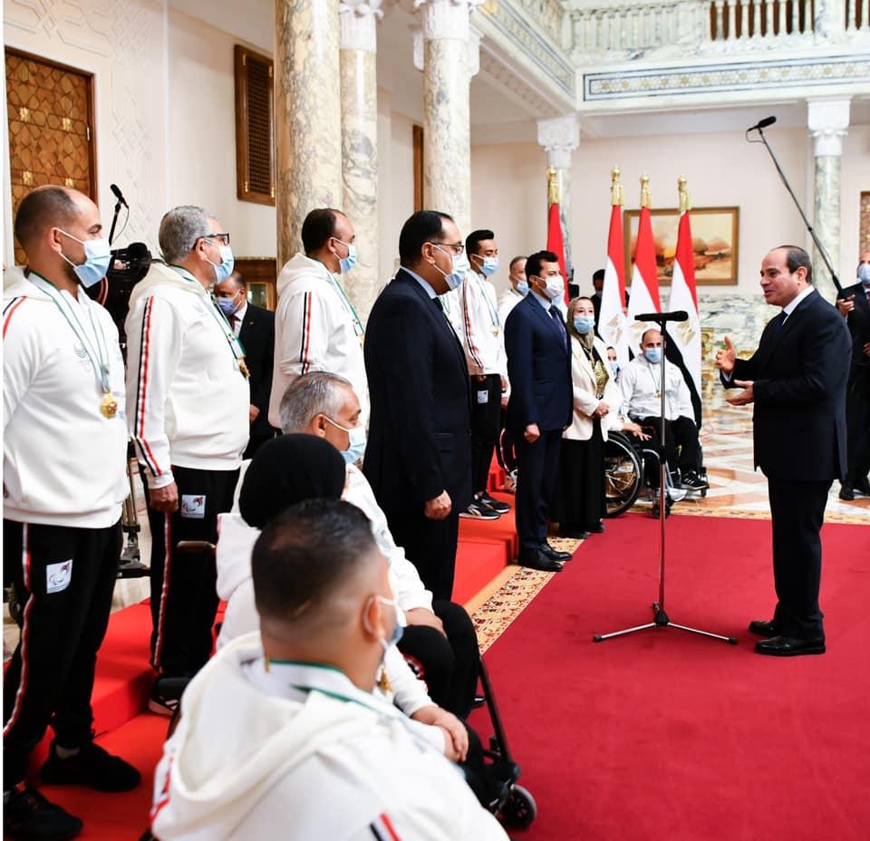 الرئيس السيسي خلال تكريم الأبطال البارالمبين