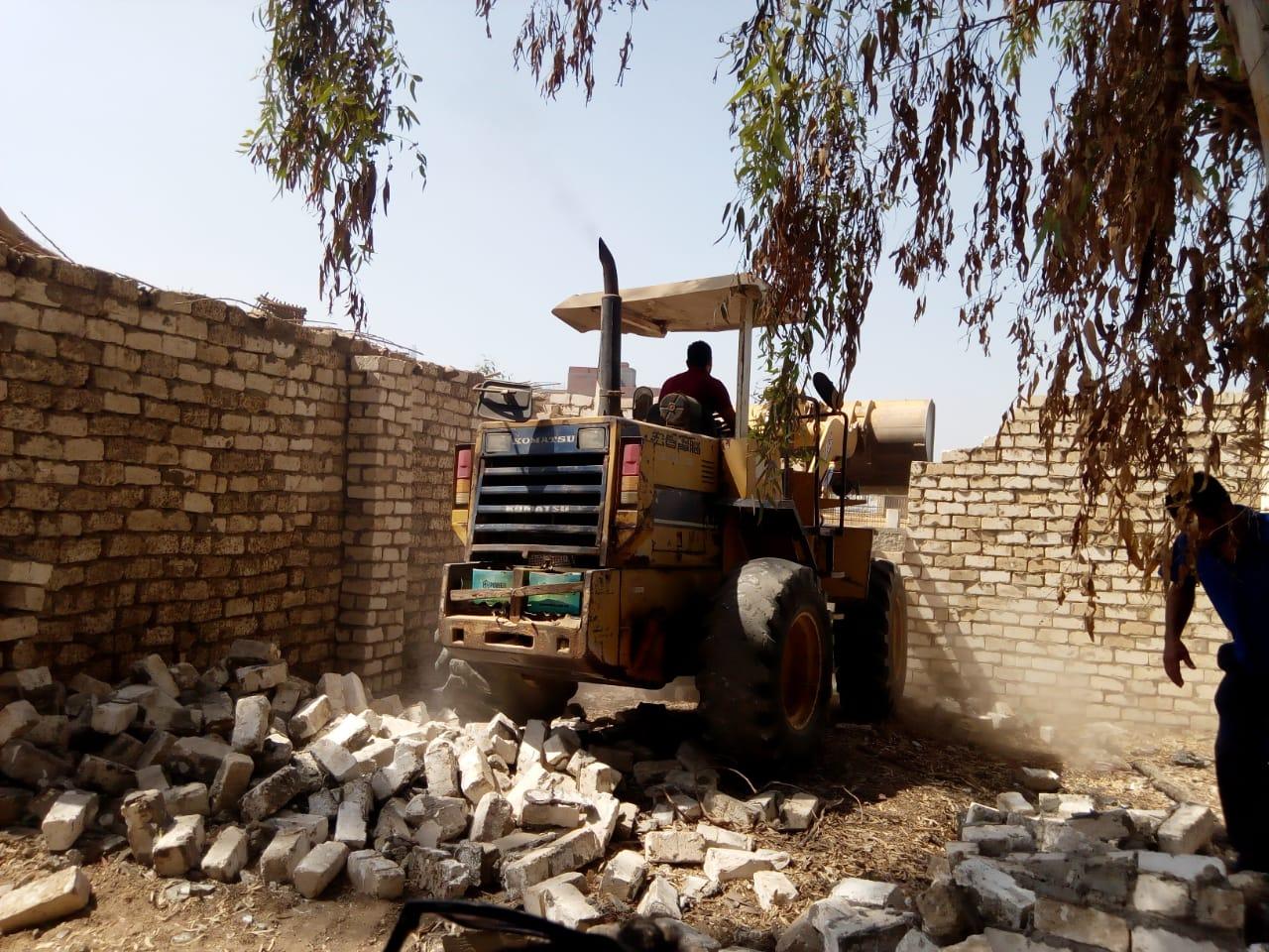 إزالة  حالة تعد على أملاك الدولة والأراضي الزراعية في المنوفية | صور