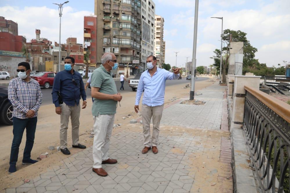 محافظ الجيزة يتابع أعمال تطوير شارع البحر الأعظم  صور