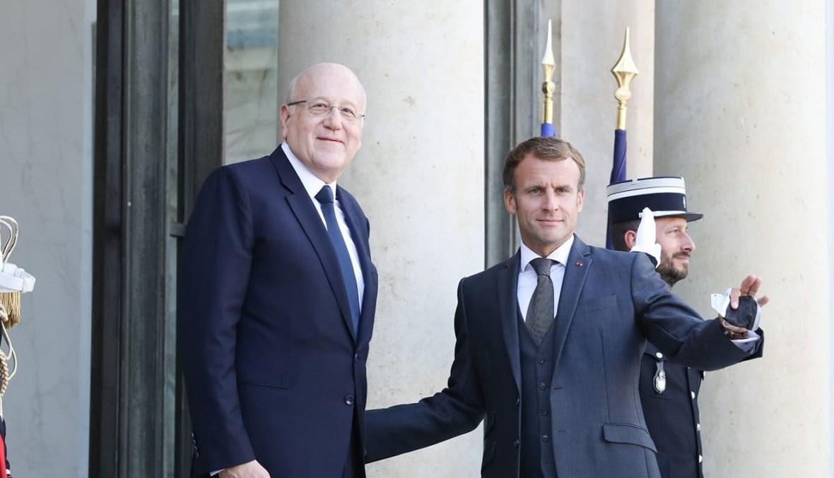 رئيس الحكومة اللبنانية لماكرون عازمون على تنفيذ إصلاحات ضرورية وحاسمة بأسرع وقت لإنعاش الاقتصاد