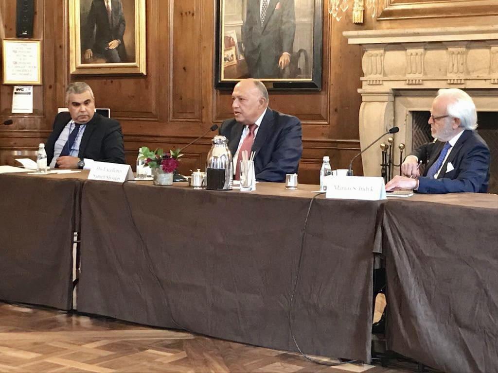 سامح شكري يبرز محددات السياسة الخارجية المصرية في جلسة بمجلس العلاقات الخارجية الأمريكي صور