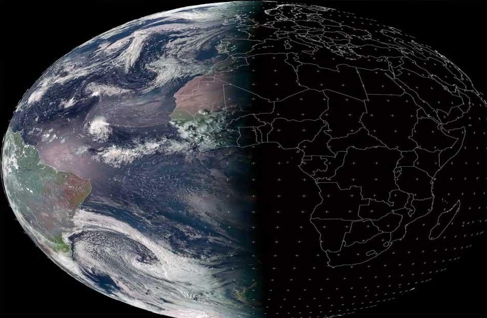 ;الأرصاد; تنشر صورةً للأرض من الفضاء ترصد بداية فصل الخريف