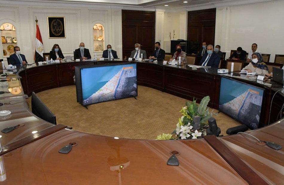 وزير الإسكان ومحافظ دمياط خلال الاجتماع