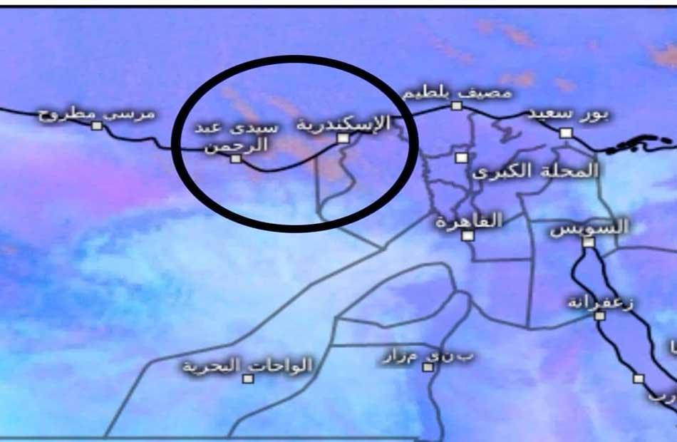 أمطار على الإسكندرية والساحل الغربي خلال ساعات