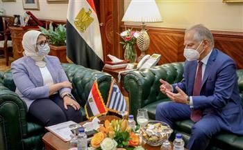 وزيرة-الصحة-تبحث-مع-السفير-اليوناني-سبل-التعاون-في-القطاع-الصحي-|-صور